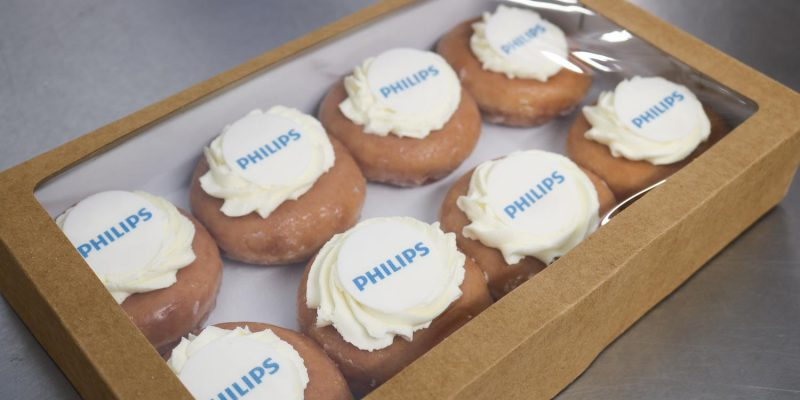 Doughnuts personalised with logos