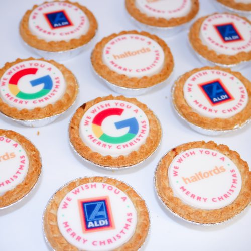 500 Branded Mince Pies for £650