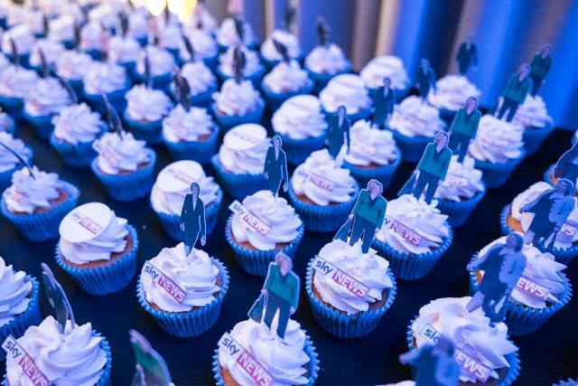 Promotional Cupcakes for Sky News' Political Event