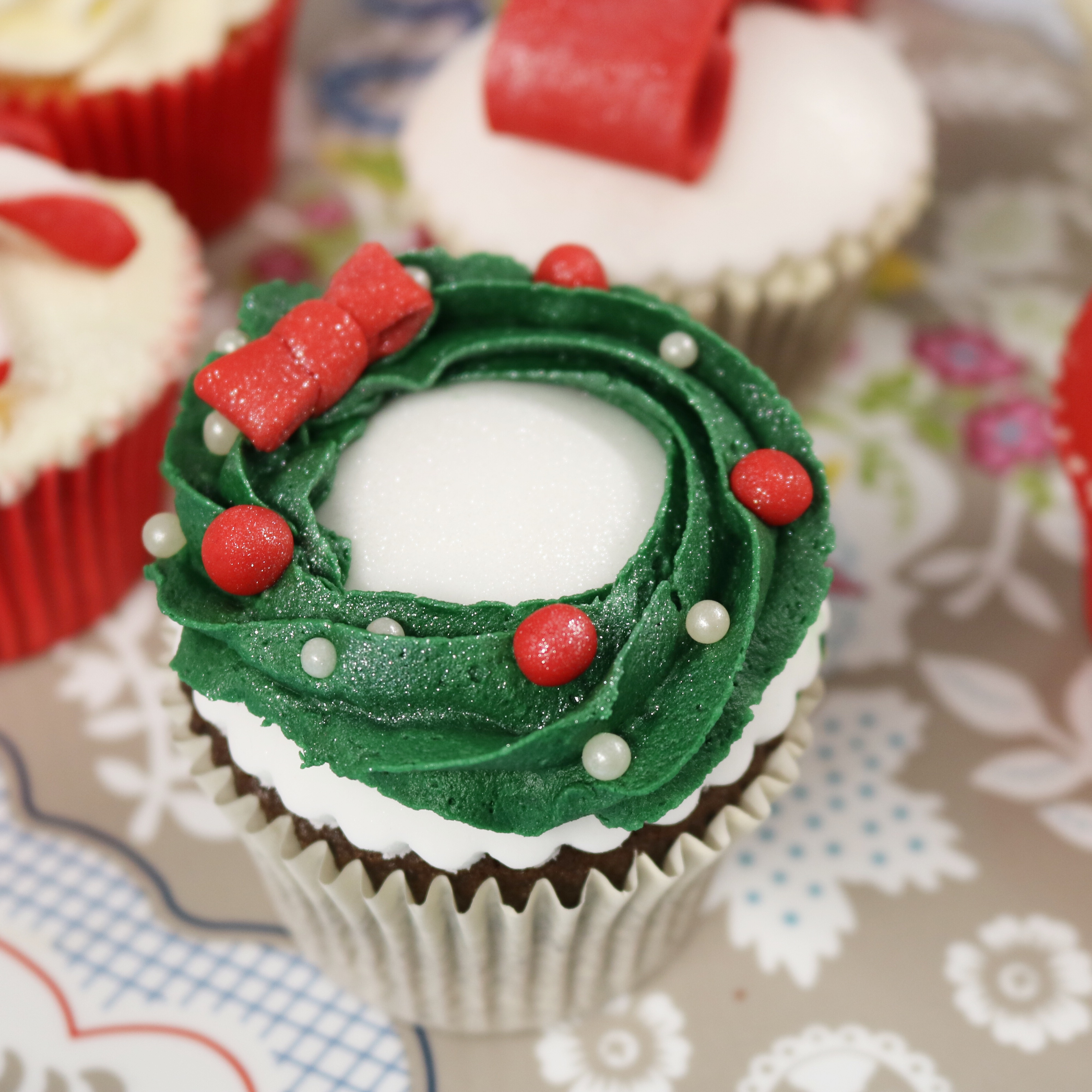 Branded Christmas Cupcakes